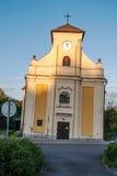 WorldÅ›稀有,圣Petra教会从Alkantara的在Karvina 库存照片