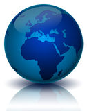 World. Illustration of the world in blue Stock Photography