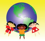 World. Children of the different countries Stock Images