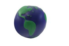The world. The rubber ball which represent the world Stock Photography