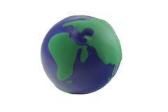 The world. The rubber ball which represent the world Stock Photos