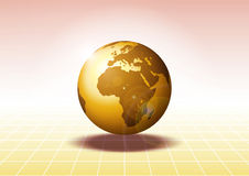 World. Illustration in brown and yellow tones Royalty Free Stock Images