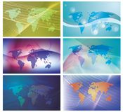 World. Vector illustration of world globe with square dots Royalty Free Stock Photos