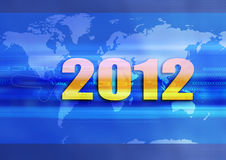 The world on 2012. Graphism, illustration clip art the world in 2012 Stock Illustration