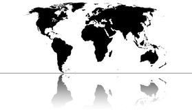 World. Highly detailed map of the world Stock Photo