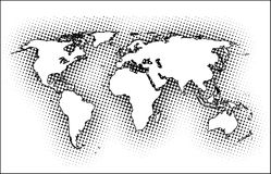 World. Highly detailed map of the world Stock Illustration