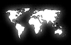World. Highly detailed map of the world Vector Illustration