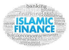 World. Islamic Finance info-text graphics and arrangement concept on white background stock illustration