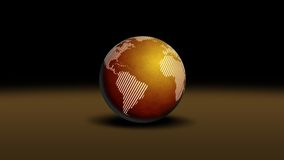 World. Globe illustration on brown surface Stock Images