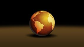 World. Globe illustration on brown surface Royalty Free Stock Photos