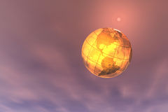 World. Digital montage of 3d render of globe royalty free illustration