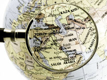 World. Focus on middle east( toned image Stock Photography