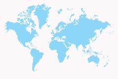 World. Map,2D digital art Stock Images