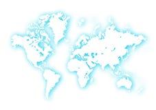World. Map,2D digital art Stock Photography