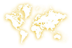 World. Map,2D digital art Royalty Free Stock Photo