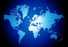 World. Map,2D digital art Royalty Free Stock Photography