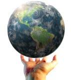 World. Hand holding the world illustration Stock Images