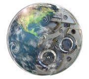 World. Earth blend whit clock illustration Stock Image