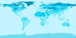 World. Map illustration (derived from NASA image); raster royalty free illustration