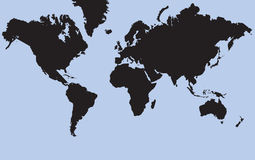 The World. Flat map of the World Vector Illustration