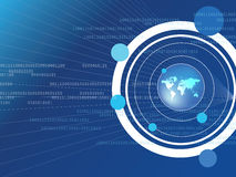 World. Background world and binary code abstract Royalty Free Stock Photo