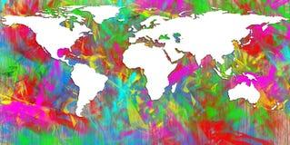 World. Map isolated over orange background royalty free illustration