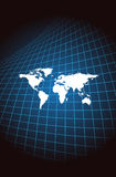 World. Map of the world on the abstract background Royalty Free Stock Images