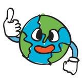 World. Illustration of thumb up world isolated over white background Stock Photos