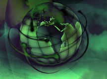 World. Illustrated and painted an abstract colored world Stock Image