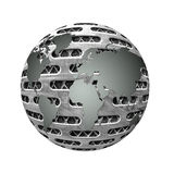 World abstrac. The metal world is strong without any damage Stock Photos