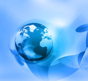 World on Abstract blue background Royalty Free Stock Images
