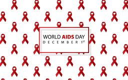 World AIDS day. AIDS awareness. AIDS red ribbon. World AIDS day 1 December. Logo vector. Icon vector. World AIDS day. AIDS awareness. AIDS red ribbon. World Vector Illustration