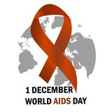 World Aids Day Aids Awareness ribbon The 1st December. Vector illustration. World Aids Day Aids Awareness ribbon The 1st December Vector illustration vector illustration