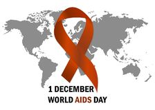World Aids Day Aids Awareness ribbon The 1st December. Vector illustration. World Aids Day Aids Awareness ribbon The 1st December Vector vector illustration