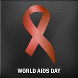 World Aids Day Aids Awareness ribbon The 1st December. Vector illustration. World Aids Day Aids Awareness ribbon The 1st December Vector royalty free illustration