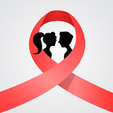 World AIDS Day Awareness Red Ribbon Concept Love Royalty Free Stock Image