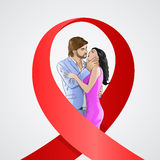 World AIDS Day Awareness Red Ribbon Concept Love Royalty Free Stock Images