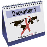 World AIDS day calendar Stock Photo
