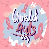 World aids day concept background, hand drawn style royalty free illustration
