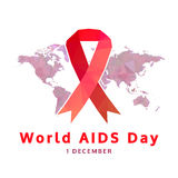 World aids day concept, 1 december. aids awareness Royalty Free Stock Images
