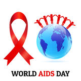 World AIDS day concept vector.  Royalty Free Stock Image