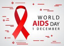 World aids day 1 december awareness tape Royalty Free Stock Images