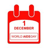 World Aids Day  1 December Poster. calendar sheet. Vector illustration isolated on white background Stock Illustration