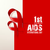World AIDS day. December the 1st Royalty Free Stock Photography