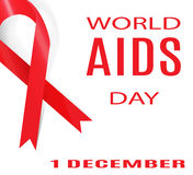 World AIDS Day. 1 December. Vector Illustration. Stock Images