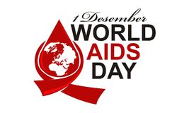 World Aids Day 1 December. Logo Design Template Vector Vector Illustration
