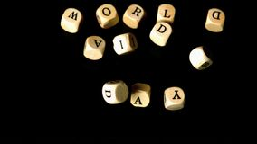World aids day dice falling together Royalty Free Stock Image