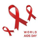 World aids day with aids icon royalty free stock photo
