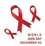 World aids day with aids icon. In red color Vector Illustration