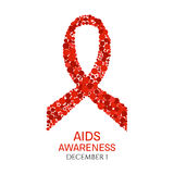 World AIDS Day poster Stock Photos
